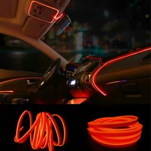 الديكور JURUS 3Meter السيارات التصميم المحيطة ضوء الداخلية ضوء EL سلك مرنة ادى النيون قطاع 12V مقبس ولاعة السجائر