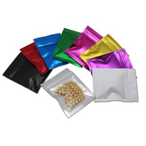 1000pcs DHL 8.5x13cm Foil Pouches Mylar Resealable Bags for Beans Coffee Packaging Clear Plastic Clear Bags