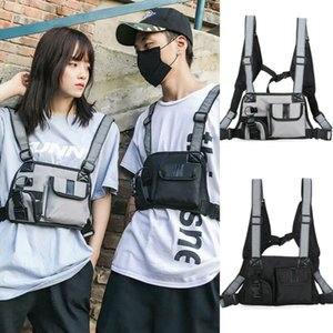 Нейлон Cargo Мода Chest Rig Сумки на пояс Сумки Жилет Hip Hop Уличная Функциональные сумки Tactical Harness Грудь