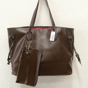 Sac de taille moyenne avec porte-monnaie nouvelle mode des femmes occasionnels sacs à main dame sac célèbre designer sacs de voyage en cuir PU femme 2pcs sac à main / set