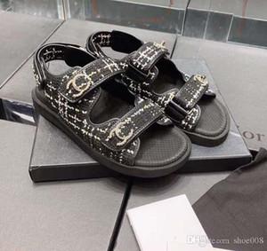 Givenchy Versace Gucci Ysl Fendi UGG Mulheres Designer Sandals viagem Boutique simples nobre fundo grosso Moda Sexy Ladies toe Exposed sandálias casuais ocos 35-39 Com Box r10