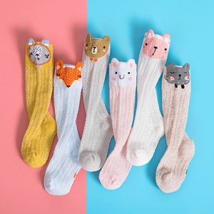 Cartoon Cute Kids Cotton Sock Bear Animal Baby Cottons Sock Knee High Long Leg Warmers Socks Boy Girl Children Socks 0-3 Years