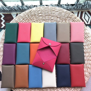 AS001High-end Togo leather imported wax line custom mini wallet, general purpose wallet for men and women