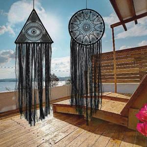 Büyük Siyah Dream Catcher Nordic Odası Dekorasyon Ev Yatak Odası Dekorasyon Dream Catcher Duvar makrome Estetik Asma