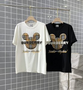 patch coton carreaux classique ours brodé T-shirt 2020 marques mode hommes tshirt design vetements femme BUR manches courtes T M-XL