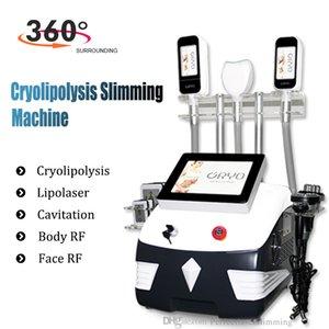 Cryolipolysis fat freeze machine lipolaser 7 IN 1 Cryotherapy lipo laser ultrasonic cavitation RF slimming Beauty machine Endorsed Cry