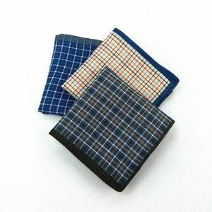 alta calidad oscura cruz suave tela escocesa de los hombres de algodón de 43 cm y refrescante pañuelo pañuelo