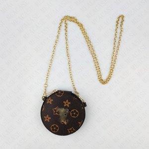 Mini Yuvarlak Zincir Çanta Kadın Kız Tasarımcı PU Deri Crossbody Çanta Fanny Paketi Omuz Çantaları Marka Moda Butik Çanta Tote D72813