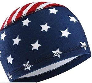 Projeto da bandeira Crânio Cap Liner capacete por Homens Hot Sweat Cooling Wicking Ciclismo Cabeça Caps Sob motocicleta Capacete de Liners