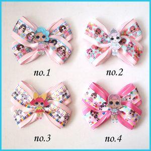 "20 BENEDICTION Fille 4.5"" Two Tone Angel Hair Bow clip B Joyful Doll arc-en-bébé Y200710"