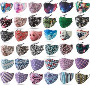 Großhandel Gesichtsmaske Raum Baumwolle Design waschbare Resuable Maske Frauen Männer Staubdichtes Adjustable Mouth-Muffel Masken mit Einzelpackung D71614