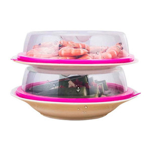 Прозрачный еды Герметичный заглушка Bowl еды Keep Fresh Холодильник Крышка Микроволновая маслостойкой Люки Кухонные инструменты