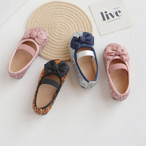 Brand New Fashion Children Princess Dance Shoes Kids Girl Dress Party Shoes Flats Casual Single First Walkers Soft Slip-on