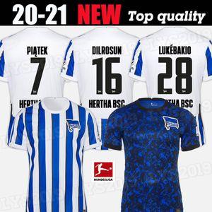 7 Piatek Hertha BSC Fussball Jerseys Duda Lowen Kalou Kopke Mittelstadt Torunarigha Custom 2020 2021 Hertha Berlin Home Football Hemd