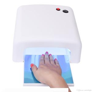 36W Nail Dryer Gel Curing UV Nail Lamp with Sliding Tray and 4 Pcs Nail Bulbs