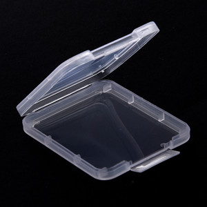 Memory Card Case Box Protective Case CF SD Card Tool Plastic Transparent Storage Box Protection Case Card Container IIA337