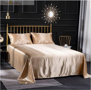 Thumbedding Camel Satin Silk King Soft Touching Duvet Cover Queen Comfortable Bed Cover with Pillowcase Blanket