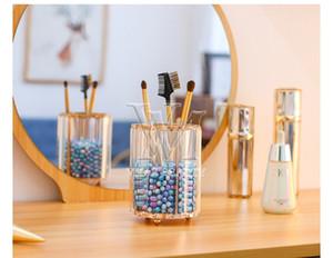 3 Maquiagem Shapes Europeu suporte de escova de armazenamento Pen Titular de cristal Bucket Lápis de sobrancelha pente Caixa de armazenamento Cosmetic escova Organizer