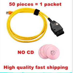 (50 Pieces) New ESYS 3.23.4 V50.3 cabo de dados para b-m-w ENET Ethernet para a interface OBD ESYS ICOM codificação para F-serie frete grátis