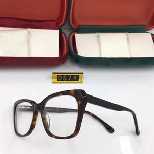 Più nuova alta qualità GG0571 vetri ottici telaio importato puro plancia elastico prescrizione temple53-17-145for bicchieri pieni-set caso all'ingrosso