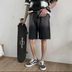 Mens Verão Tie Dye Moda Jeans Shorts Streetwear Hip Hop Denim Shorts masculinos Sweatshorts Casual Calças