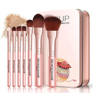 7 Мультифункциональный косметические кисти набор маски кисти Портативный макияж Отвечает различные макияж потребности легко чистить щеткой инструменты красоты
