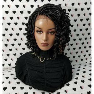 Parrucche corte frontali frontali del pizzo di Dilys per le donne Parrucca anteriore del pizzo sintetico con i capelli ricci dei capelli dei capelli