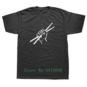Weelsgao طبل الطبال تي شيرت القصيرة الأكمام نمط الصيف التطبيل T قميص الرجال زائد الحجم مضحك