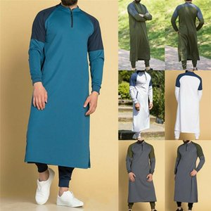 New Mens Jubba Thobe Arabic Islamic Clothing Winter Muslim Middle East Arab Abaya Dubai Long Robes Traditional Kaftan Jacket Top WKL7#