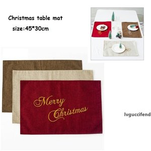 Christmas Knife Fork Mats Xmas Party Table Mats Comfortable Dinner Tablecloth Decorations Hotel Western Linen Table Cutlery Pads