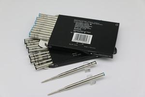 Classique 12 Pcs caneta esferográfica preto / azul Refill ponto médio com preço baixo pode collocation mista não as recargas de tinta tampa