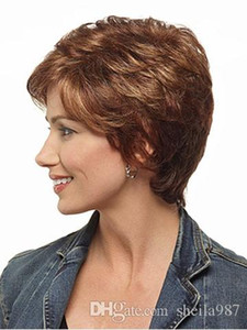 High Quality Short Synthetic Wigs For Black Women Pixie Short Straight Synthetic Wigs Heat Resistant Natural Synthetic Wigs