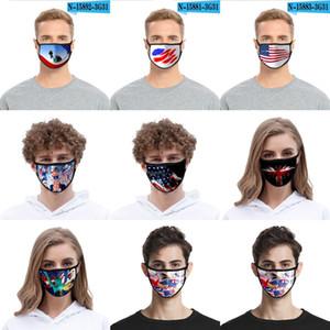 5 stili americani Bandiera Maschera nazionale 3D Stampato lavabile antipolvere Mask Outdoor Ciclismo Fa HZ5P