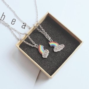 Girlfriends Korean Style Necklace Female Student Good Friend Clavicle Chain Rainbow Couple Fashion Pair Simple Pendant