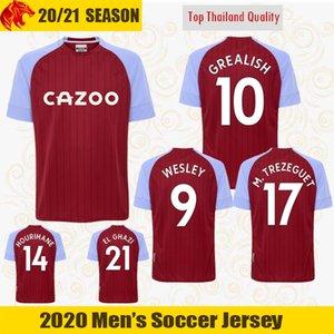 20 21 Aston Villa camisas de futebol WESLEY 2020 2021 AVFC GREALISH camisa de futebol EL GHAZI McGINN TREZEGUET Jersey