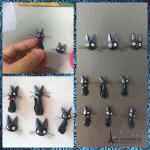 2pcs Livraison gratuite / lot chat noir aimants pour réfrigérateur figures voiture de jouets pour animaux à la maison pour l'approvisionnement en partie décoration de bureau ro cadeaux Rk8Q #