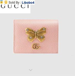 Libobo4 499361 Butterfly Decorative Leather Card Holder Wallet Chain Wallets Purse Shoulder Bags Crossbody Bag