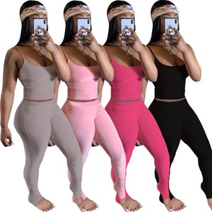Hot women two piece outfits sexy pleated home two piece set summer women s clothing 2 piece set plus size S-XXL