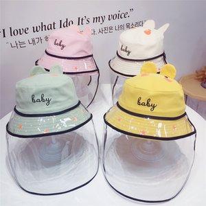Kids Anti-spray Hat Baby Boys Girls Health Care Anti Fog Anti-flue Hat Adjustable Windproof Sunscreen Fisherman Hat