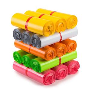100Pcs Tek Renkli Su geçirmez Ekspres Çanta Kurye Torbaları Kargo Zarf Posta Yapışkanlı Mühür Plastik Torbalar