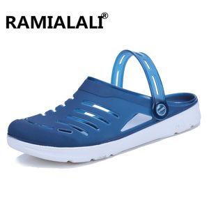 Ramialali Лето Повседневная дышащих сандалии обувь 2020 Открытого желе тапочки обуви дышащих мулы досуг Мужчина сандалия