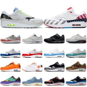 Nike air max 1 shoes Luxo Triplo Preto Branco Homens Tênis de corrida Mulheres Mais Novo Cone Gundam South Beach azul Tour Amarelo Ginásio Vermelho Sports Formadores Sapatilha