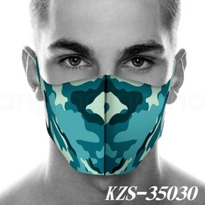 Camouflage cycling mask outdoor 3D printed mask for men and women mouth facial cover washable camo designer masks FFA4026-5