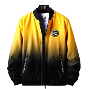 Jacket Men Primavera Verão 2020 Gradient Macacões Oversize Blusas Casacos logotipo popular 8XL Juventude Moda Casual Vestuário Impresso