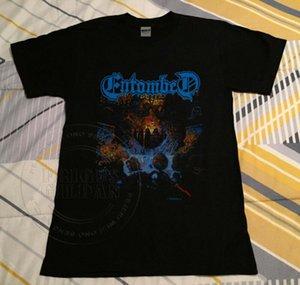 VTG 90-Entombed Clandestine Скандинавский тур 1991t-рубашка переиздание погром