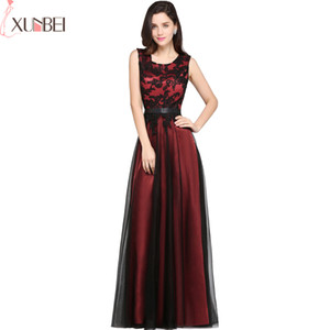 Babyonlinedress Robe de Soiree Longue A Line Burgundy Green Evening Dresses Appliqued Cheap Prom Gown Party Gown CPS590