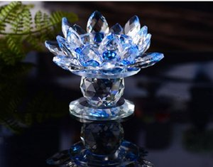 2020 Lotus lamp holder colorful crystal lotus candlestick candle light wedding with Buddhist candlestick butter lamp decoration 005
