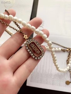 2020 New women Necklace with Box Exquisite design Gold Nameplate high quality fashion popular beautiful free shipping 062420