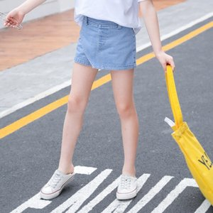 jeans skirt girls shorts summer dress skirt 2020 summer dress pure color Jeans children's shorts panty pants big children's pants