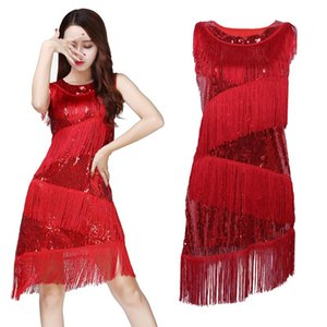 Fringe Latin Dance Dance Party Dress Tango Costume Performance Robe